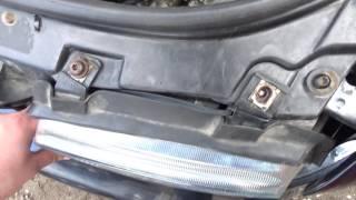 Ремонт крепления фары своими руками. Audi a4 b5