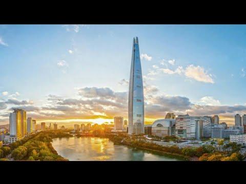 Одно из самых высоких зданий в мире, Sky Lotte Tower в Сеуле.
