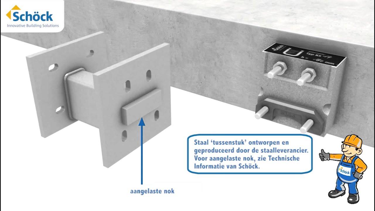 sch ck isokorf ks thermische bruggen oplossen bij beton. Black Bedroom Furniture Sets. Home Design Ideas