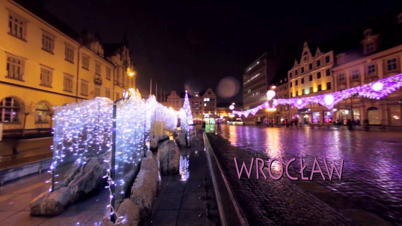 Świąteczne iluminacje świetlne 2015. Filmy zrealizowane w kilku miastach w Polsce.