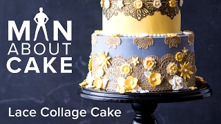 (man about) Edible Lace Collage Cake | Man About Cake with Joshua John Russell