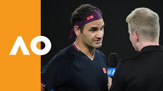 Roger Federer on-court interview | Australian Open 2020 (1R)