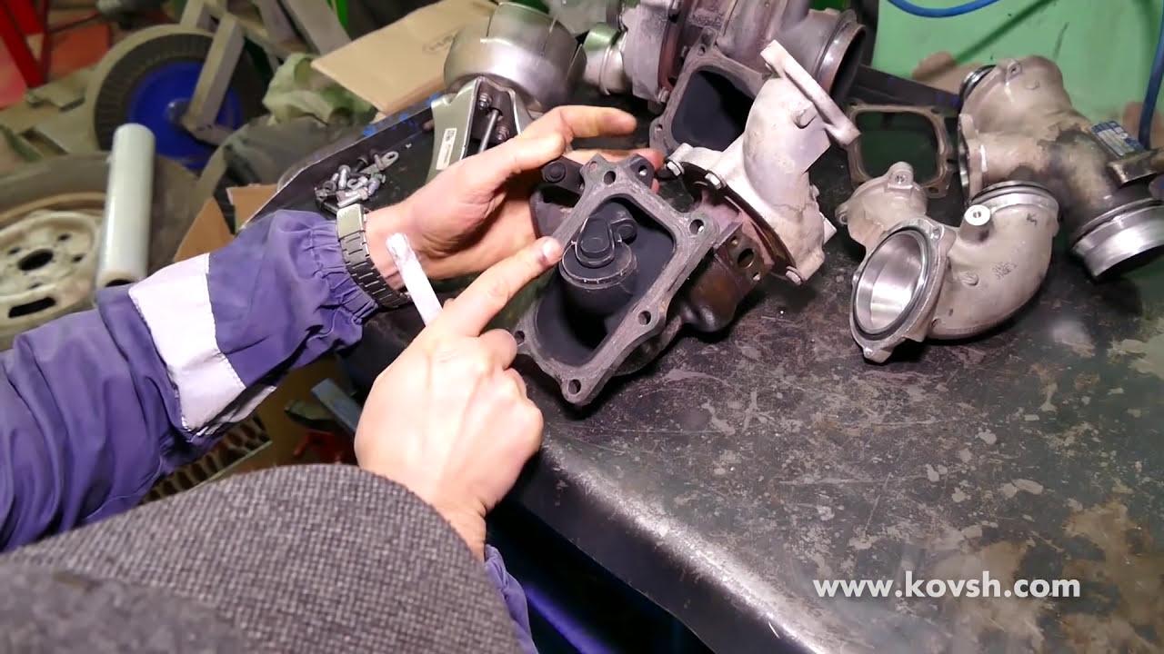 Причина Недостаточного Наддува Мотора Mercedes Om651 (Ошибка  P2263)—Вестгейт Первой Турбины   Сто Ковш 09:59 HD