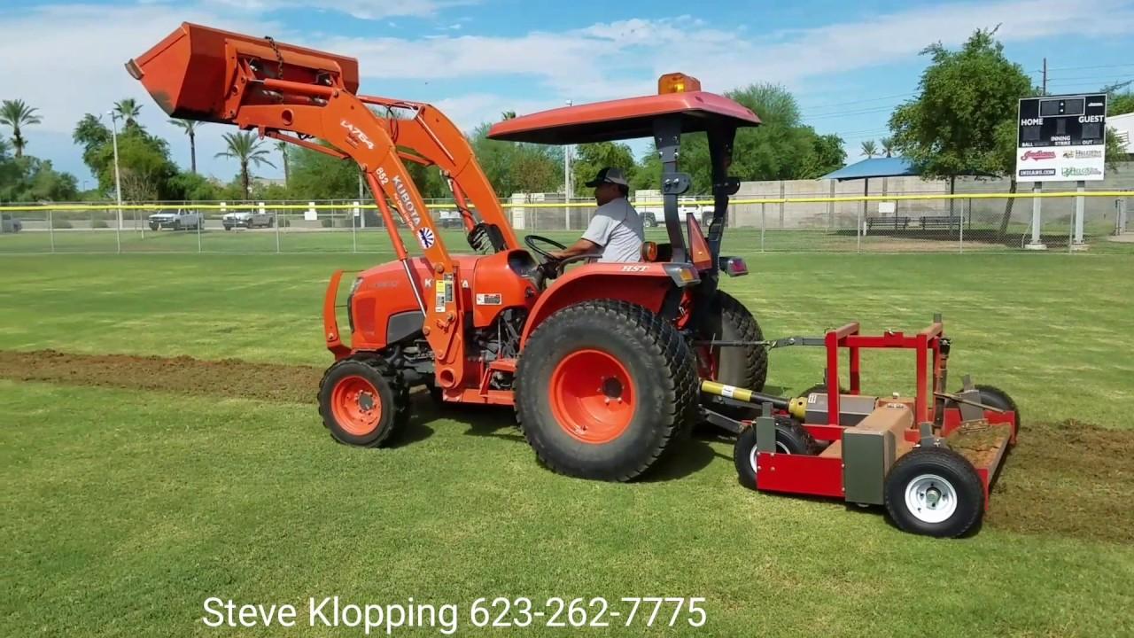 Kubota Lawn Tractor >> PTO-60 SPORTS TURF RENOVATOR DE-THATCHER AERATOR BALL ...