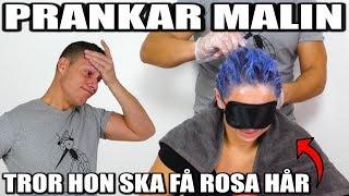 PRANKAR MALIN *TROR HON SKA FÅ ROSA HÅR*