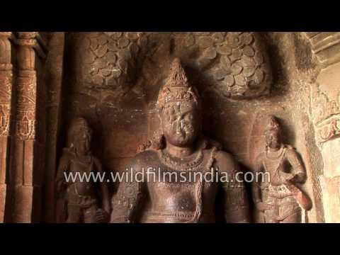 Ancient Ellora caves - heritage site of India