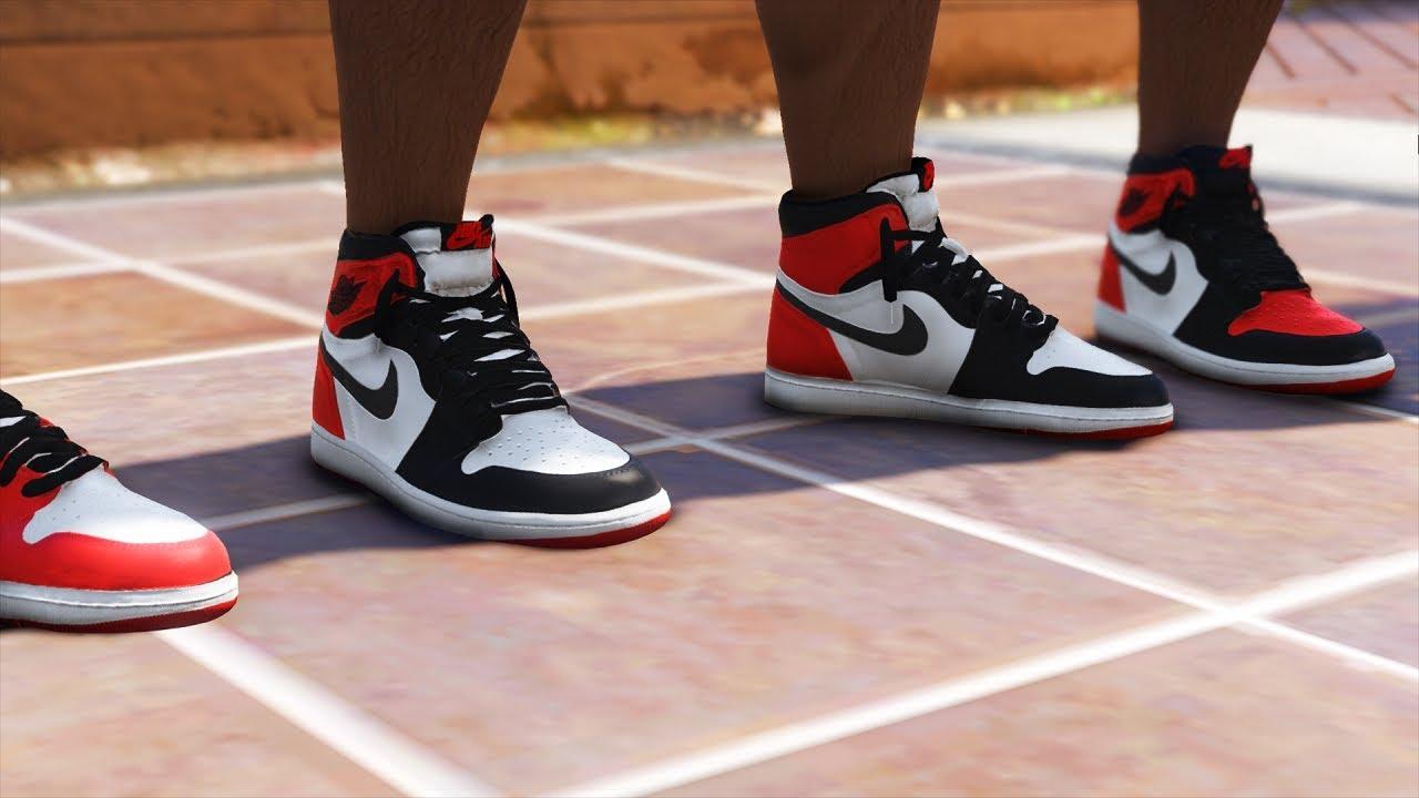 Jordan 1 Retro High OG Pack sneakers - GTA 5 mods - mod review and installation