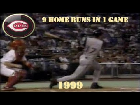 Cincinnati Reds - 1999 - 9 HR in 1 Game, 14 HR in 2 Games