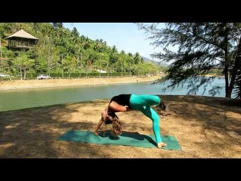 urdhva dhanurasana  variation  bridge pose with half