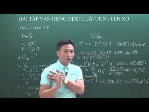Vật lý 9 - Vận dụng định luật Jun- Lenxơ  - thầy Vũ Văn Tuân [HOCMAI]