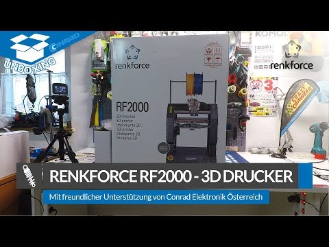 Renkforce RF2000 3D Drucker Bausatz – Unboxing