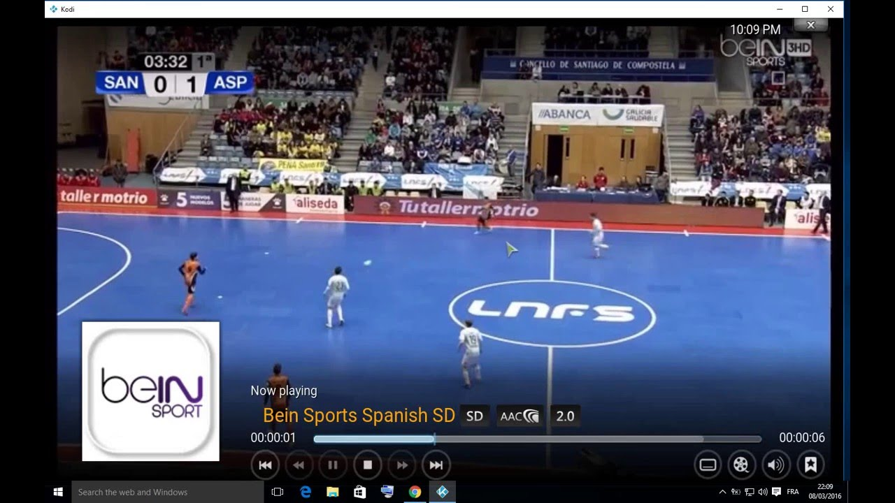 how to find bein sports on kodi