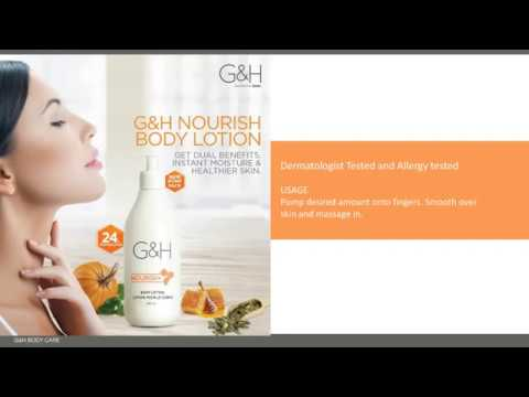 AMWAY NEW PRODUCT LUNCH G & H LOTION AND BODY WASH