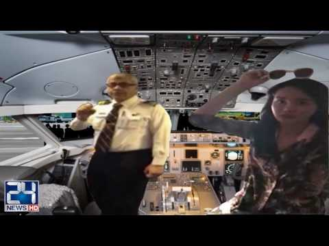Chinese lady flies in PIA cockpit