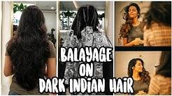 Balayage on Dark Black Indian Hair  My Hair Trainsformation  Harshala Patil
