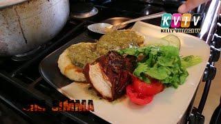 Stew Chicken, Callaloo & Coconut Dumplings. Sim Simma Cookery Show