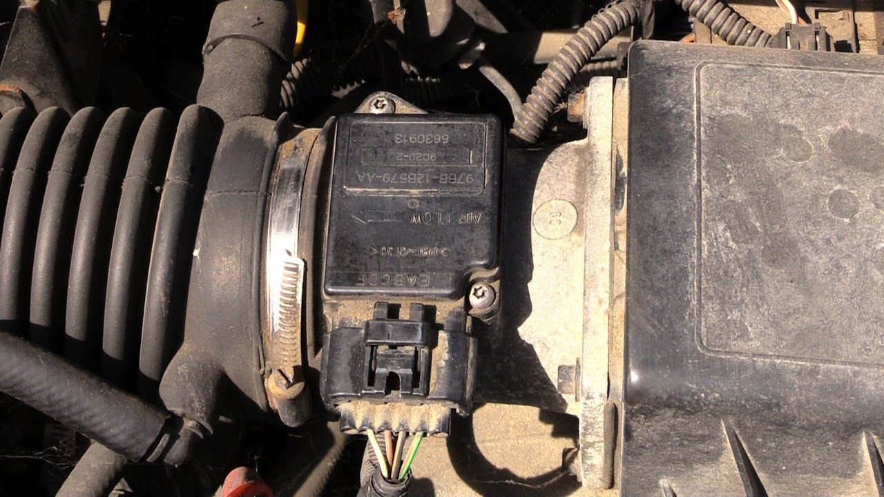 how to clean mass air flow sensor ford vehicles easy [ 1280 x 720 Pixel ]