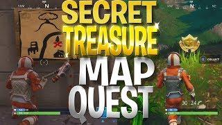 FREE Battle Stars Locations! Dusty Depot Secret Treasure Hunt - Fortnite Treasure Quest Challenge