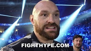 """""""IF WILDER WAS HERE, I'D..."""" - TYSON FURY PHILLY TAKEOVER; WILDER TALK ON HOLD IN FAVOR OF STROWMAN"""