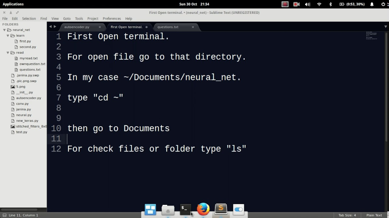 How to run a python file from terminal or goto a folder from terminal  elementary os