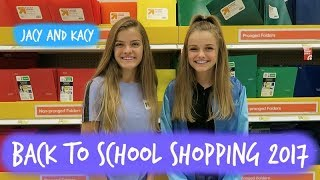 Back to School ~ Supply Shopping 2017 ~ Jacy and Kacy
