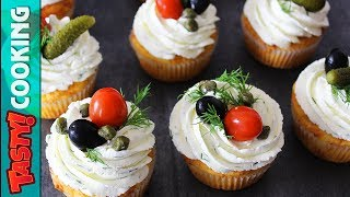 Savory Cheese Cupcakes Recipe 🧀 Man Cupcakes 🧀 Tasty Cooking