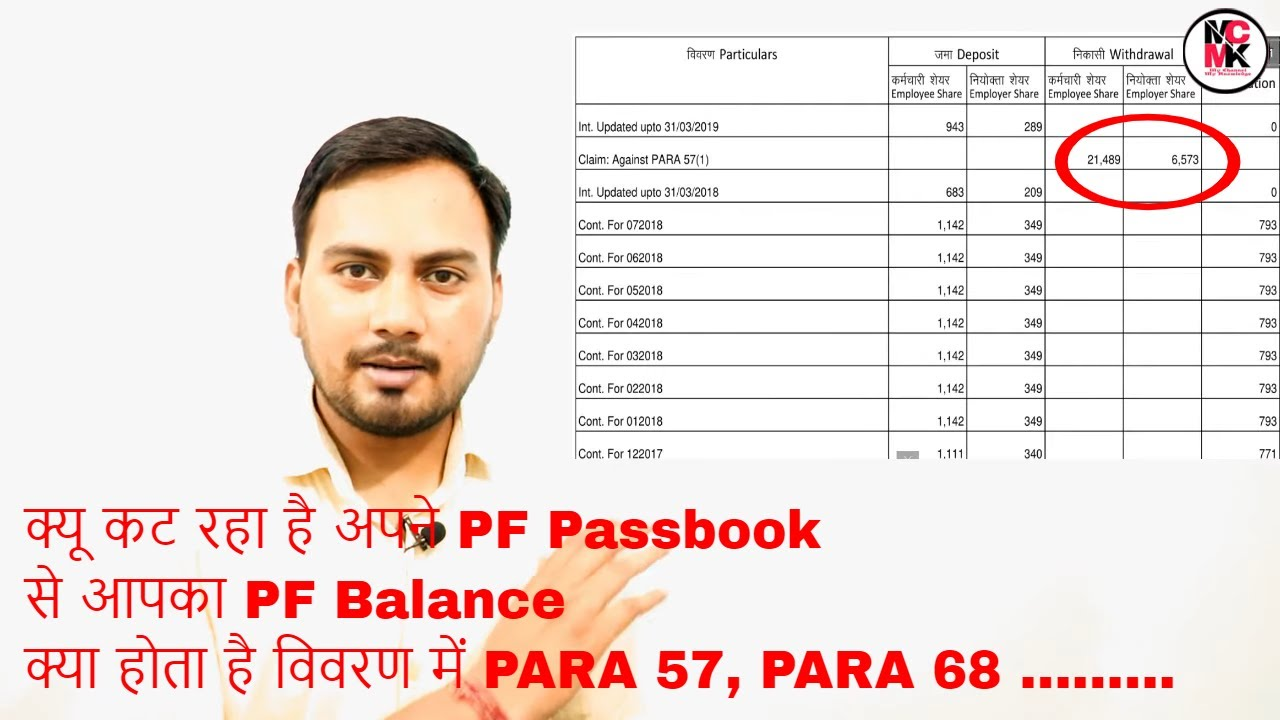 Download How To Find Reason Of Withdraw In PF Passbook || Meanings Of PARA In PF Passbook In Hindi & Urdu