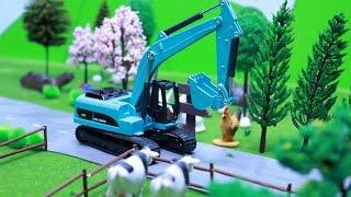 เรียนรู้จักรถก่อสร้างสำหรับเด็ก รถบรรทุก รถดั้ม รถบดดิน รถแม็คโคร รถโม่ปูน