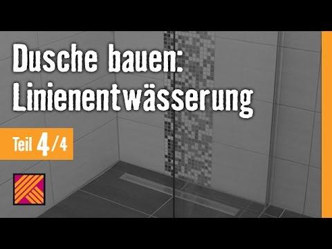 Bodengleiche Dusche einbauen: Linienentwässerung - Kapitel 4 ...