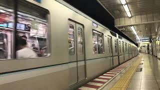 東京メトロ日比谷線13000系13105F東武動物公園行き神谷町駅発車