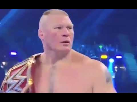 Roman rings v/s Brock Lesnar 09/04/2018 WrestleMania full match