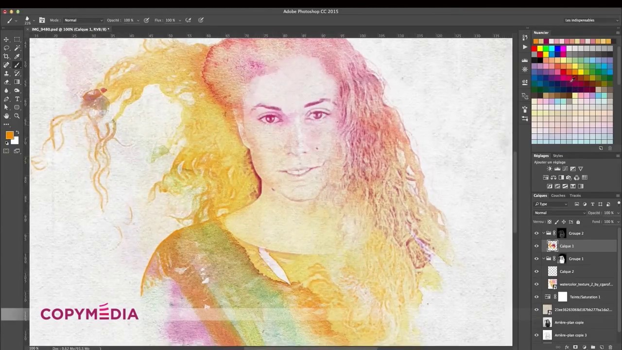 Aquarelle Sur Photoshop Copymedia Youtube