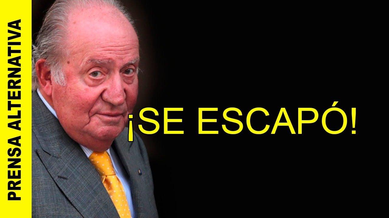 JUAN CARLOS I DE ESPAÑA ABANDONÓ ESPAÑA PARA EVITAR LA CÁRCEL