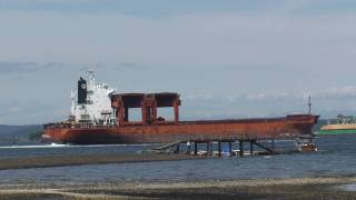 ship leaving crofton s catalyst pulp and paper mill