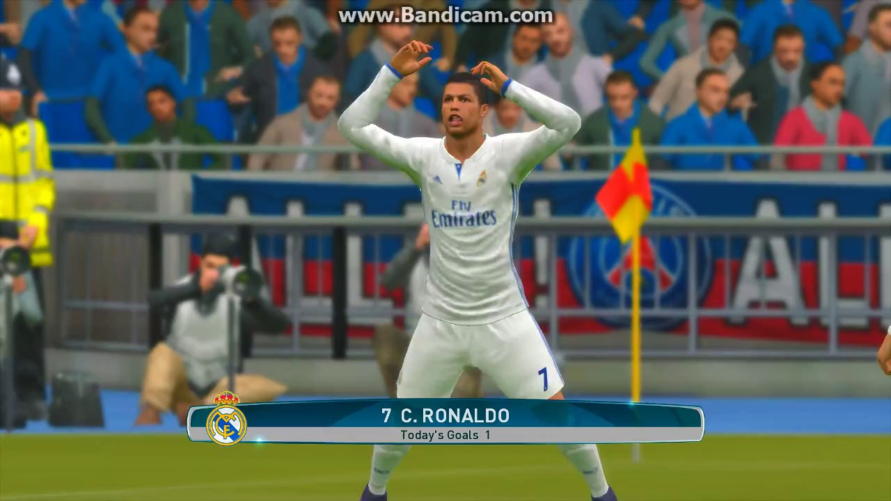 Goal & Celebration Cristiano Ronaldo PES 2017 - YouTube