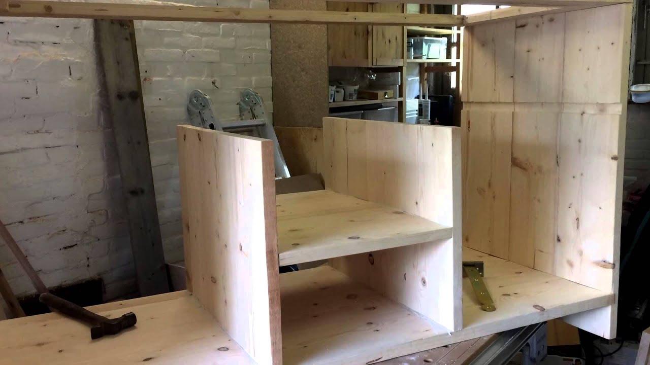 Buitenkeuken steigerhout youtube for Bouwpakket steigerhout