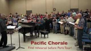 Pacific Chorale final tour rehearsal