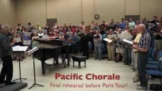 Pacific Chorale final tour rehearsal