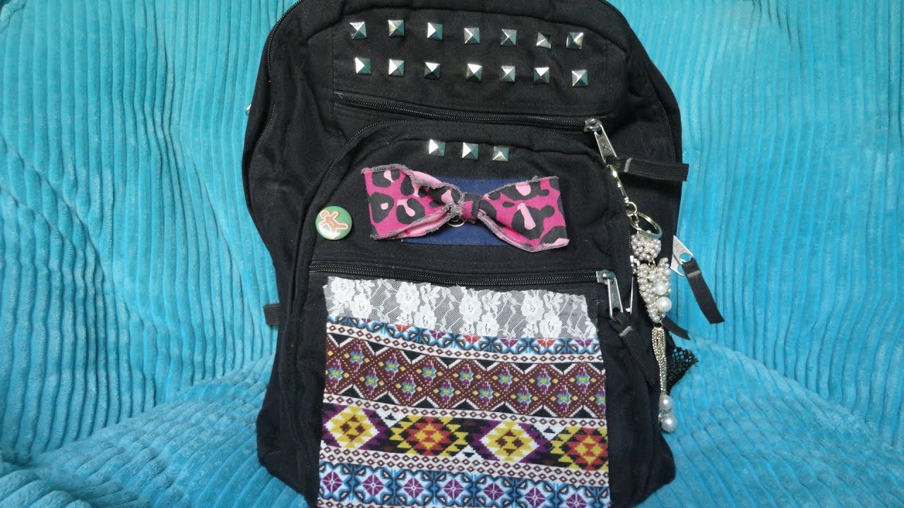 Easy DIY Backpack Decoration! - YouTube