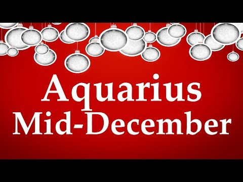 Aquarius Mid-December 2017 BIG SHAKE UP & IT'S NOT TOO GOOD TO BE TRUE - Aquarian Insight