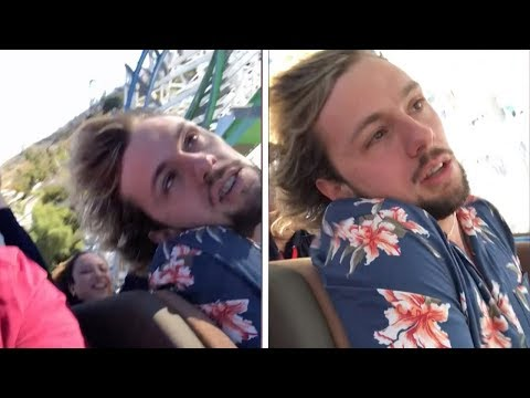 Adam Gubernath - Guy Passes Out On Rollercoaster