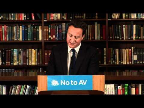 David Cameron explains why he's voting No to AV