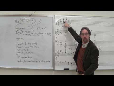 Dr. B Music Theory Lesson 28 (The V7 Chord in Root Position)