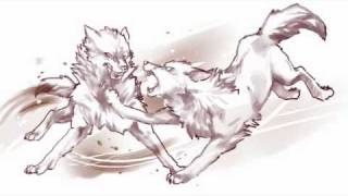 Wolf Fight doodle
