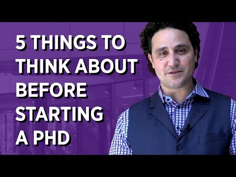 5 Things To Think About Before Starting a PhD