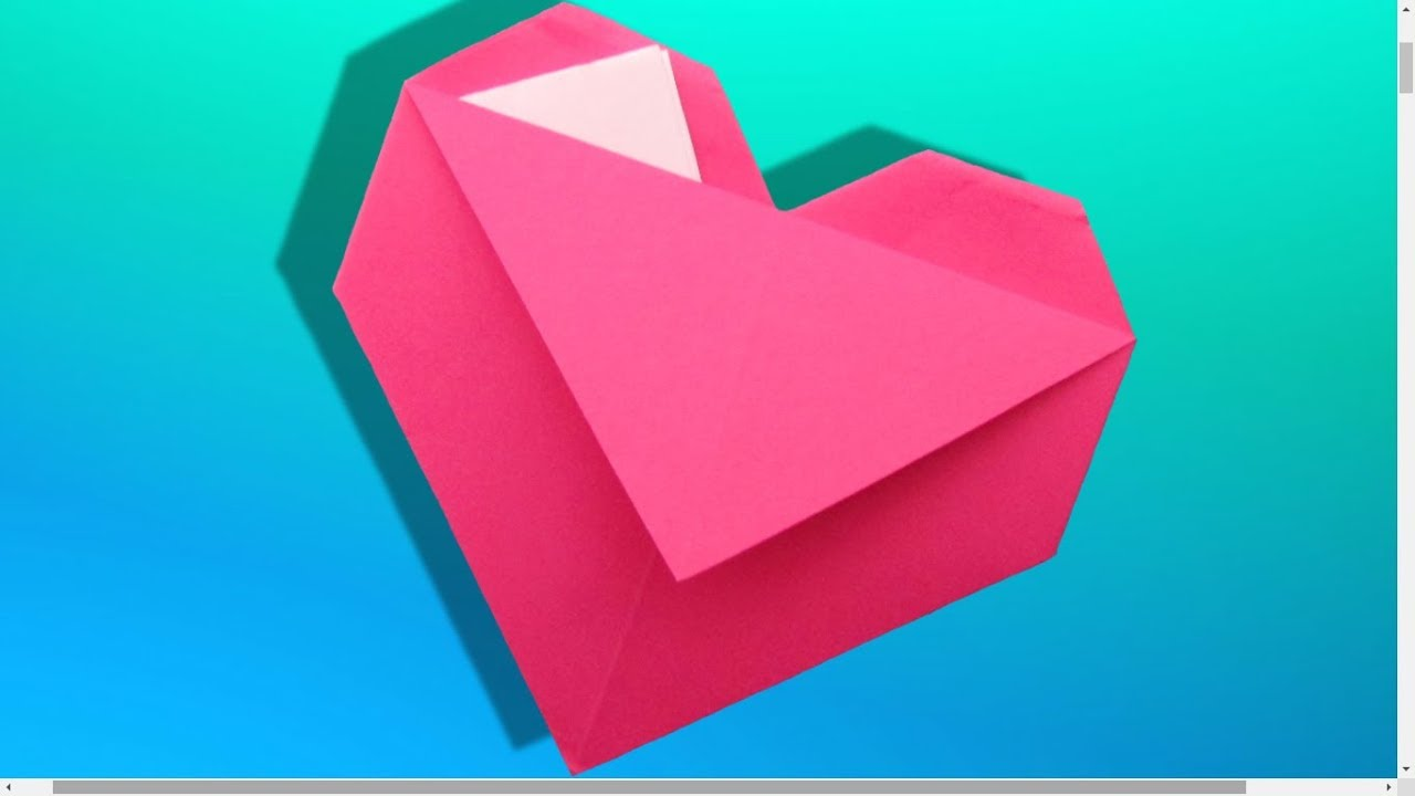 origami facile c ur pochette youtube. Black Bedroom Furniture Sets. Home Design Ideas
