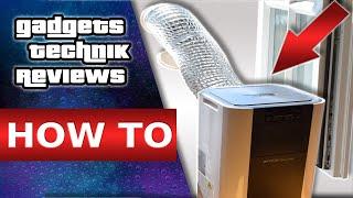 Klimaanlage Fensterdurchführung / Fenster abdichten / DIY Schlauch Fensteradapter