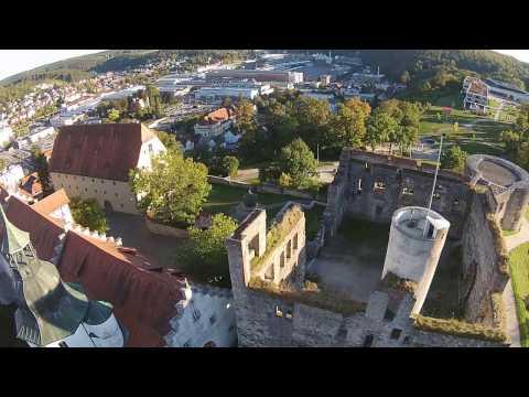 Heidenheim Germany Raw Footage DJI Phantom2 Vision Plus