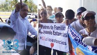 Reciben a AMLO con protestas en Acapulco por estancias infantiles