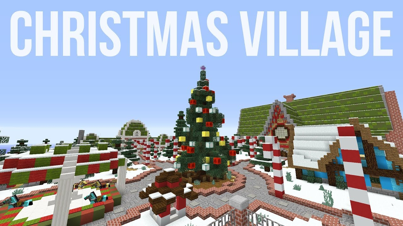 Minecraft Christmas Houses.Minecraft Christmas Village